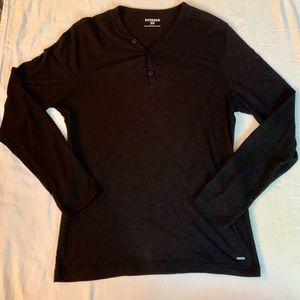 Express Men's Henley Long Sleeve Shirt Medium